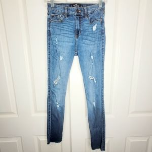 Hollister High Rise Distressed Super Skinny Jeans